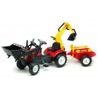 Трактор на педалях Falk 2051CN Ranch Trac с погрузчиком, экскаватором, прицепом и инструментами