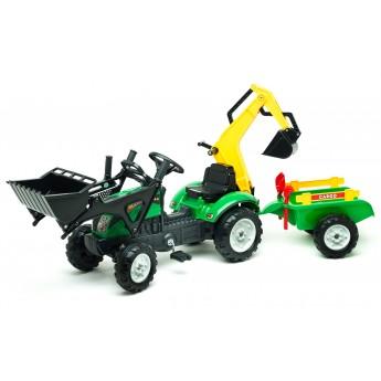 Трактор на педалях Falk 2052CN Ranch Trac с погрузчиком, экскаватором, прицепом и инструментами