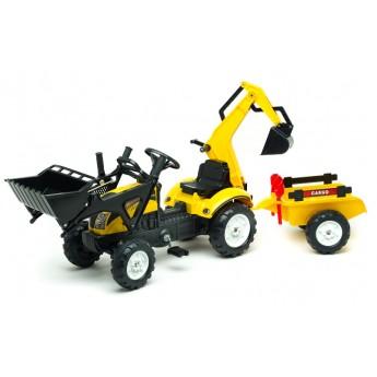 Трактор педальний Falk 2055CN Ranch Trac с погрузчиком, экскаватором, прицепом и инструментами