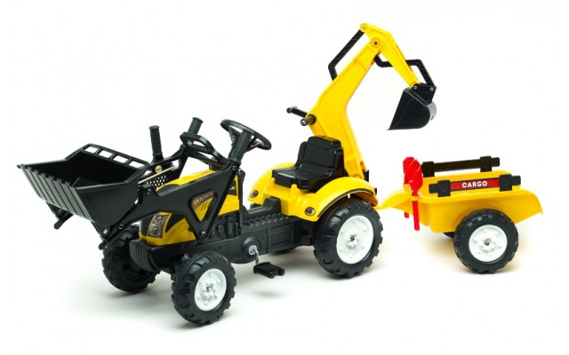 Трактор педальний Falk 2055CN Ranch Trac з навантажувачем, екскаватором, причіпом та інструментами