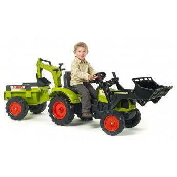 Трактор педальний Falk 2070Y Claas Arion 430 с погрузчиком, экскаватором и прицепом