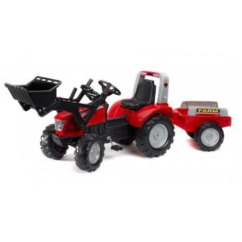 Трактор педальний Falk 3020AM Mc Cormick X7 с ковшом и прицепом
