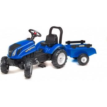 Трактор на педалях Falk 3080АВ New Holland T6 с прицепом
