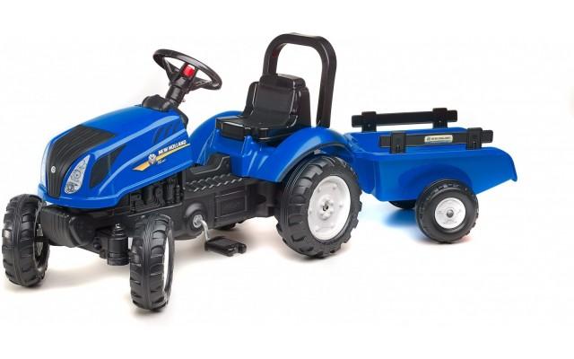 Трактор на педалях Falk 3080АВ New Holland T6 з причіпом