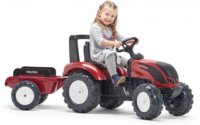 Трактор на педалях Falk 4000AB Valtra S4 с прицепом