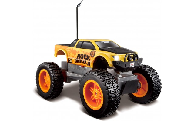Машинка на р/у монстр-трак Maisto Tech Rock Crawler Jr. жовто-чорна (81162 yellow/black)