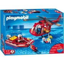 Playmobil 4428 Спасательный вертолет и лодка с фигурками - игровой набор Плеймобил