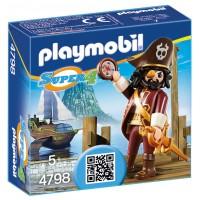 Playmobil 4798 - Пират Черная Борода - фигурка Плеймобил Super 4