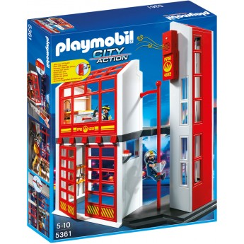 Playmobil 5361 Пожарная станция с сигнализацией - конструктор Плеймобил
