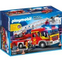 Playmobil 5362 Пожарная машина с лестницей (свет и звук) - машинка Плеймобил