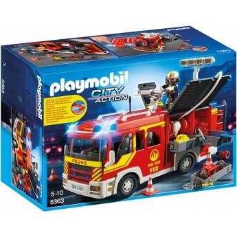 Playmobil 5363 - Пожарная машина со светом и звуком - машинка Плеймобил City Action