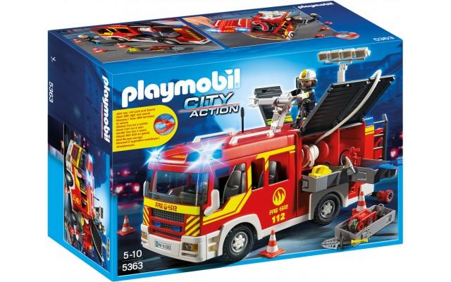 Playmobil 5363 - Пожежна машина зі світлом і звуком - машинка Плеймобіл City Action