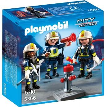 Playmobil 5366 - Команда пожарников с оборудованием - игровой набор Плеймобил City Action