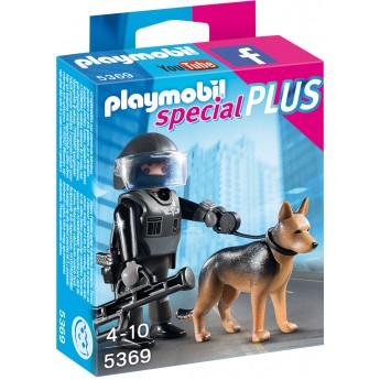 Playmobil 5369 - Полицейский спецназ с собакой - фигурки Плеймобил Special Plus