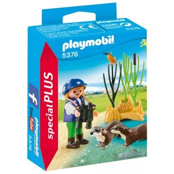 Playmobil 5376 - Юный натуралист с выдрами - фигурки Плеймобил Special Plus