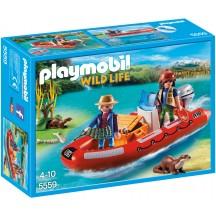 Playmobil 5559 - Лодка с браконьерами - игровой набор Плеймобил Wild Life