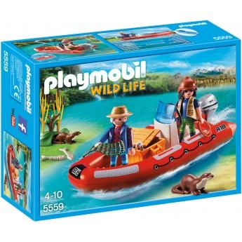 Playmobil 5559 - Човен з браконьєрами - ігровий набір Плеймобіл Wild Life