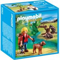 Playmobil 5562 Бобры и юный натуралист с собакой - игровой набор Плеймобил
