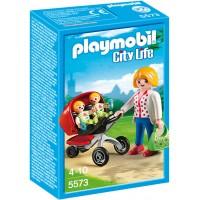 Playmobil 5573 - Мама с близнецами в коляске - игровой набор Плеймобил City Life