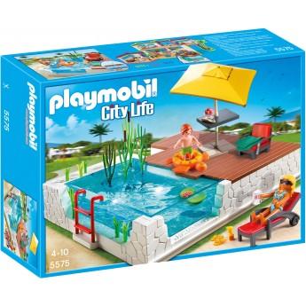 Playmobil 5575 Бассейн с террасой - конструктор Плеймобил