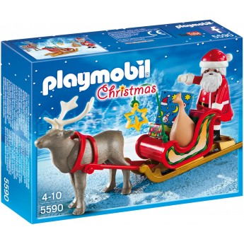 Playmobil 5590 Санта на санях с оленем - фигурки Плеймобил
