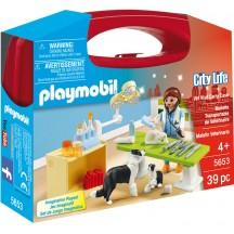 Playmobil 5653 - Визит к ветеринару (кейс) - игровой набор Плеймобил City Life