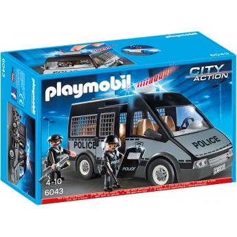 Playmobil 6043 Бронированный фургон полиции с сиреной - машинка Плеймобил