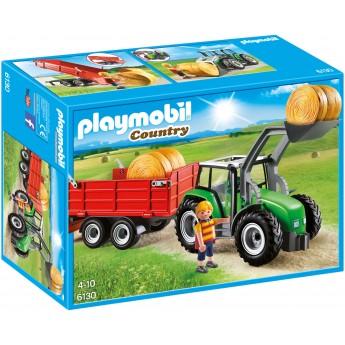 Playmobil 6130 - Большой трактор с прицепом - игрушка Плеймобил Country