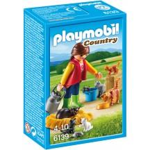 Playmobil 6139 - Женщина с семьей кошек - игровой набор Плеймобил Country