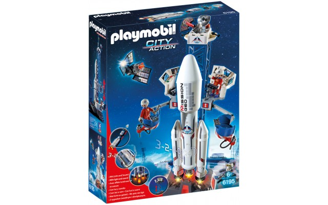 Playmobil 6195 - Космическая ракета с базовой станцией - игровой набор Плеймобил City Action