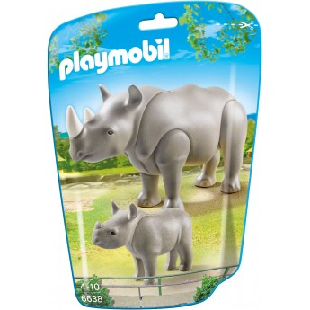 Playmobil 6638 - Носорог с детенышом - фигурки Плеймобил City Life