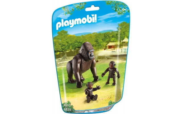 Playmobil 6639 - Горилла с детенышами - фигурки Плеймобил City Life