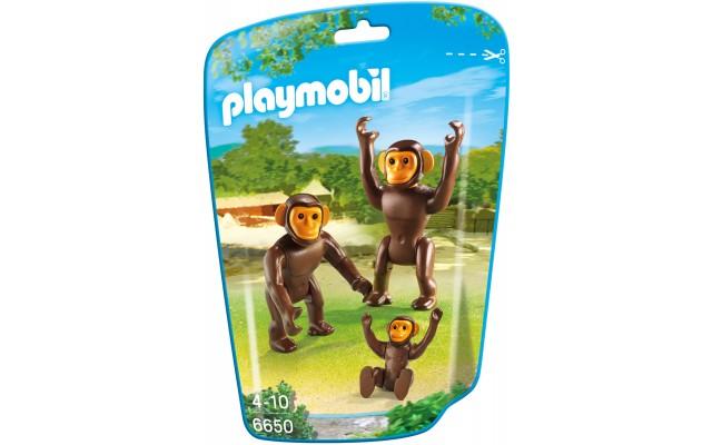 Playmobil 6650 - Семья Шимпанзе - фигурки Плеймобил City Life