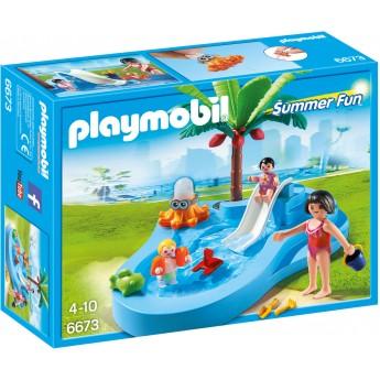Playmobil 6673 - Дитячий басейн з гіркою - конструктор Плеймобіл FamilyFun