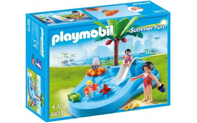 Playmobil 6673 - Детский бассейн с горкой - конструктор Плеймобил FamilyFun
