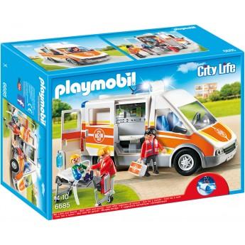 Playmobil 6685 - Швидка допомога зі світлом і звуком - машинка Плеймобіл City Life