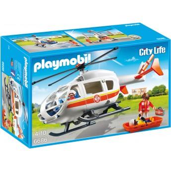 Playmobil 6686 - Вертоліт швидкої допомоги - іграшка Плеймобіл City Life