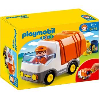 Playmobil 6774 - Сміттєвоз-фургон з функцією сортера - машинка Плеймобіл 1.2.3