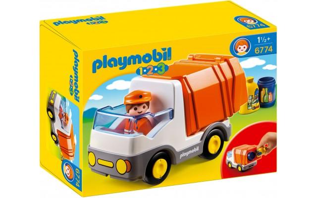 Playmobil 6774 - Мусоровоз-фургон с функцией сортера - машинка Плеймобил 1.2.3