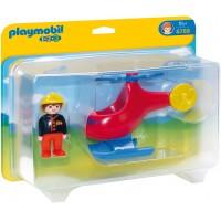 Playmobil 6789 - Пожежний вертоліт - іграшка Плеймобіл 1.2.3