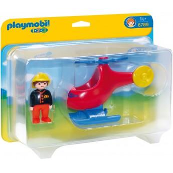 Playmobil 6789 - Пожарный вертолет - игрушка Плеймобил 1.2.3
