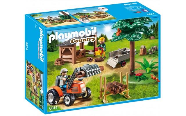 Playmobil 6814 - Лісопилка з трактором - ігровий набір Плеймобіл Country