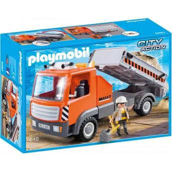 Playmobil 6861 - Самосвал бортовой с водителем - машинка Плеймобил City Action