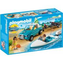 Playmobil 6864 - Пикап с лодкой и серфом - игровой набор Плеймобил FamilyFun