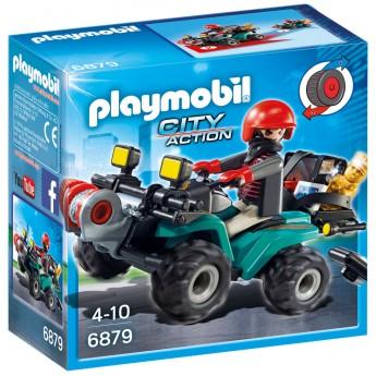 Playmobil 6879 - Грабитель с добычей на квадроцикле - игровой набор Плеймобил City Action