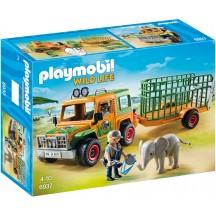 Playmobil 6937 Джип с прицепом и слоном - игрушка Плеймобил