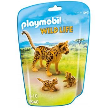 Playmobil 6940 - Леопард з дитинчатами - фігурки Плеймобіл Wild Life