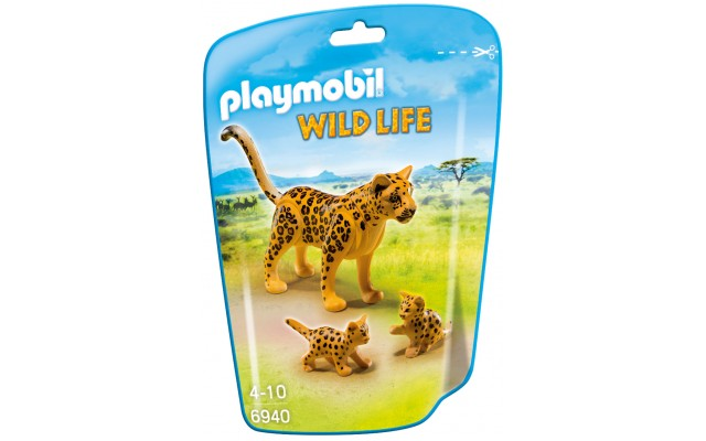 Playmobil 6940 - Леопард с детенышами - фигурки Плеймобил Wild Life