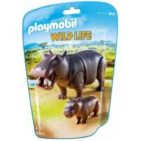 Playmobil 6945 - Бегемот с детенышем - фигурки Плеймобил Wild Life