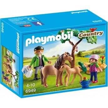 Playmobil 6949 - Ветеринар с пони и жеребенком - игровой набор Плеймобил Country